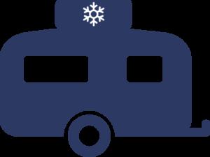 technische accessoires icoon airco blauw