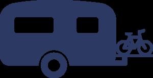 technische accessoires icoon fietsendrager blauw