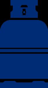 technische accessoires icoon gasfles blauw