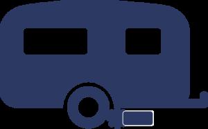 technische accessoires icoon mover blauw