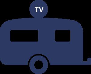 technische accessoires icoon schotelantenne blauw