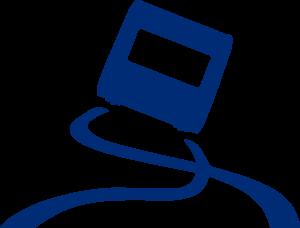 technische accessoires icoon slingeren blauw