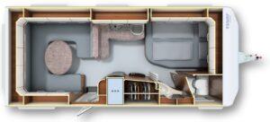 Fendt Opal 560 SRF Plattegrond 2017 web