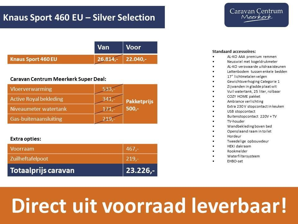 Foto van Knaus Sport Silver Selection 460 EU DIRECT LEVERBAAR